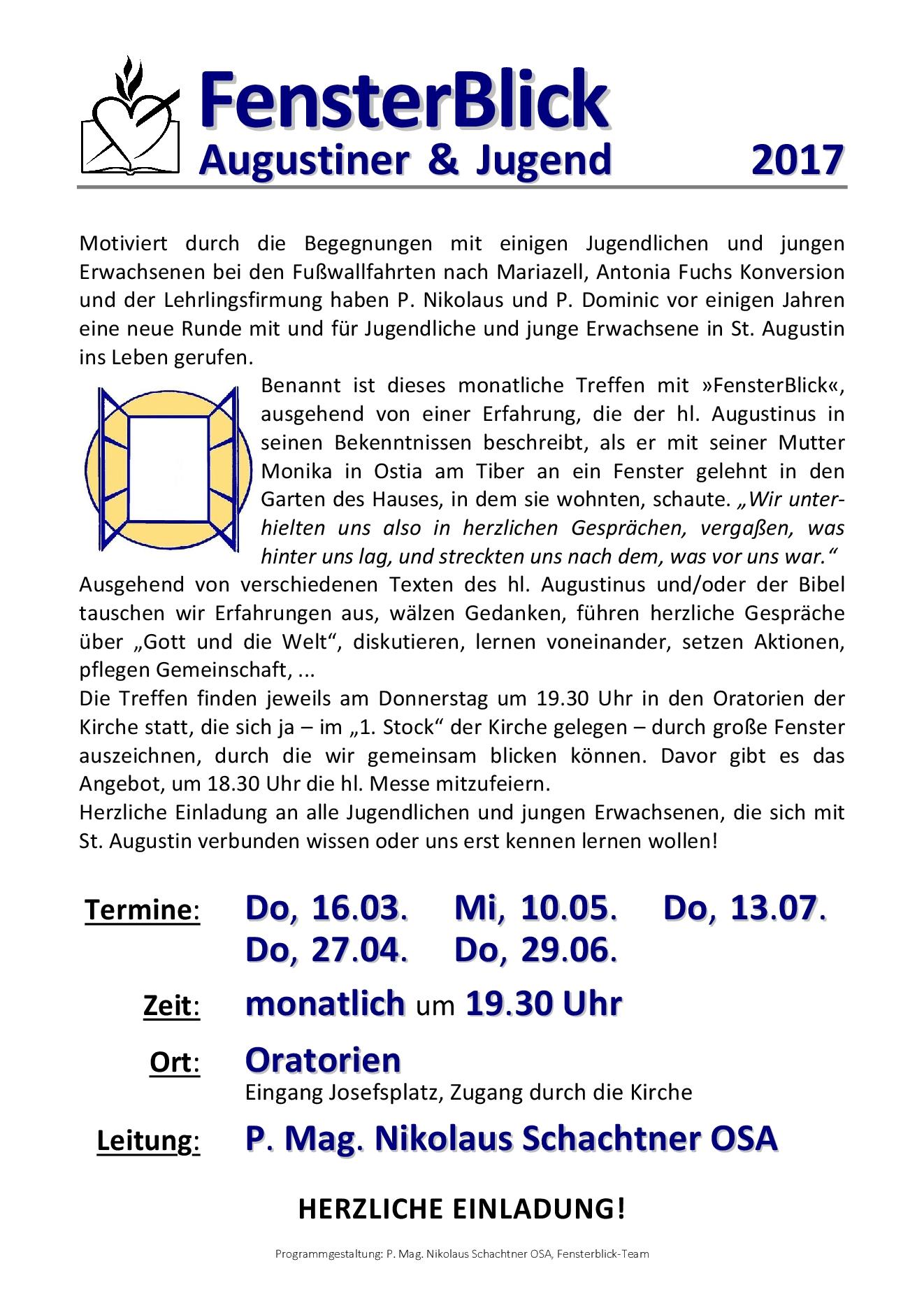Fensterblick 2017 - hellblau