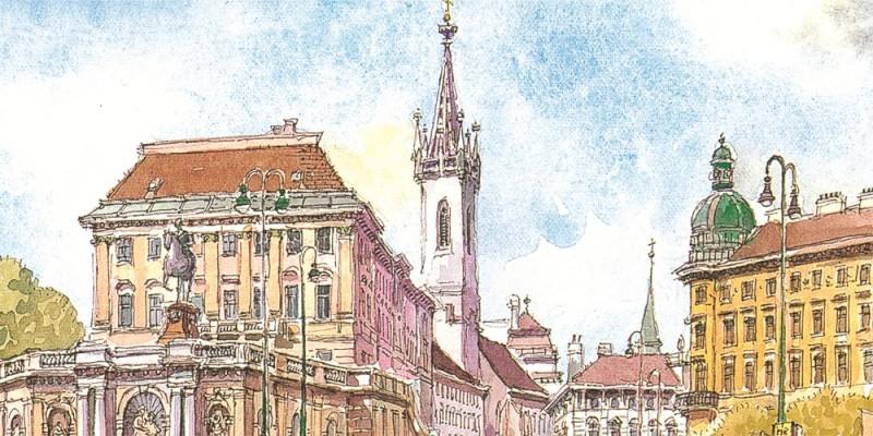 Augustinerkirche mit Albertina | © Augustiner Wien